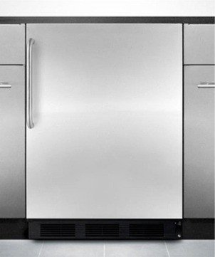 Summit AL652BBIX ADA Compliant Built-In Undercounter Refrigerator-Freezer with Cycle Defrost, Dual