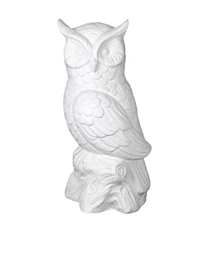 Privilege International White Ceramic Owl