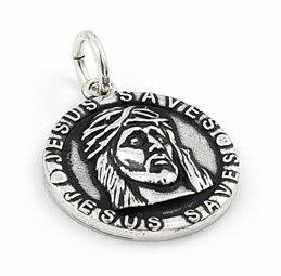 925 Sterling Silver Jesus Saves Christian Charm Pendant