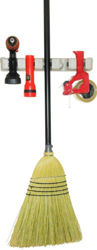 Broom and Mop Holder With Guarantee and FREE Bonus - Tool Rack - Garden Tool Storage - Sports Equipment Storage - Wall Rack - Storage & Organization - Plastic Hanger for Closet - Organize Your Laundry,Kitchen - Organization and Storage for the Home - Garage Organizer - Shed Organizer - Wall Mounted - Basement Storage - General Storage