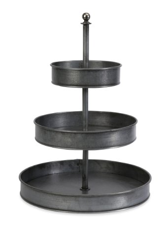IMAX Corporation Melanie 3-Tier Galvanized Stand