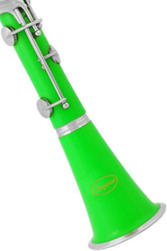 150-GR - GREEN/SILVER Keys Bb B flat Clarinet Lazarro+11 ...