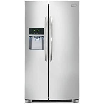 Frigidaire FGHC2331PF Gallery 22.6 Cu. Ft. Stainless Steel Counter-Depth Side-by-Side Refrigerator - Energy Star