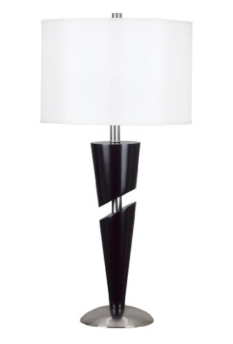 Kenroy Home 20107CBS Ventura Table Lamp, Chocolate with Brushed Steel Accents