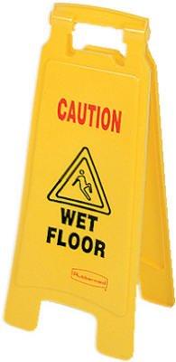 Rubbermaid Comm Prod 6112-77-YEL Caution Wet Floor Sign