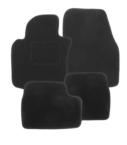 Passform Fussmatten Nadelfilz schwarz ZERO für Mercedes E-Klasse W211 / S211 Limousine / T-Modell Kombi Bj. 03/02 - 02/09 mit Mattenhalter vorne