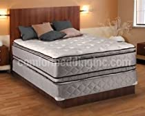 Hot Sale Hollywood Coil Comfort Double Sided Pillowtop Queen Size Mattress and Box Spring Set