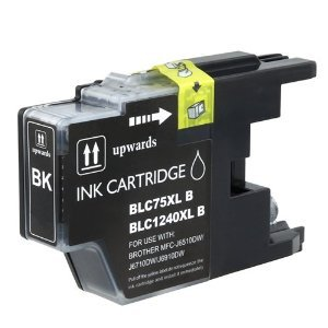 Brother LC75BK (LC-75BK) Black High Yield Compatible Inkjet/Ink Cartridge (600 Yield)