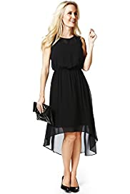 Petite Sleeveless Drop Hem Dress