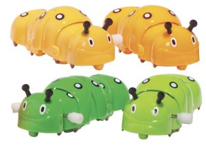 CRAWLY CATERPILLAR Wind Up Toy - Sold as Single item - Color may vary - 1