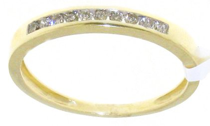 Splendid 9 ct Gold Women Channel Set Diamond Ring Brilliant Cut 0.16 Carat I-I1