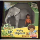 Fisher Price, Go Diego Go * Mighty Elephant Rescue * Mattel Action Figure Set