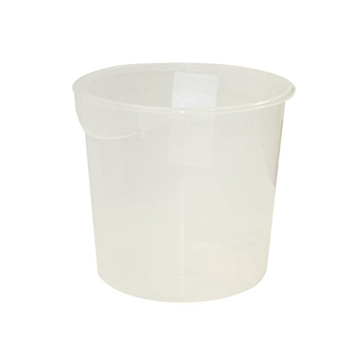 Rubbermaid Commercial Products Fg572724Clr Food Storage Container, Round, Clear Polyethylene, 18 Quart (Pack Of 6) front-164893