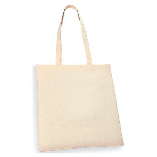 Pack of 10 Natural Cotton Shopping Tote Bags - Shoppers