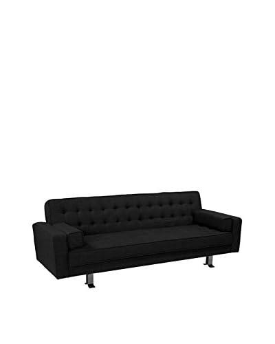 Westport Home Rayna Contemporary Sofa Bed, Black