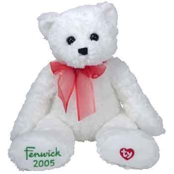 TY Classic Plush - FENWICK the Holiday Teddy Bear (UK Exclusive)