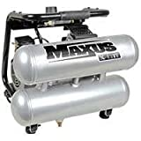 Maxus EX200100RB 0.5 HP 2 Gallon Oil-Free X-LITE Twinstack Air Compressor