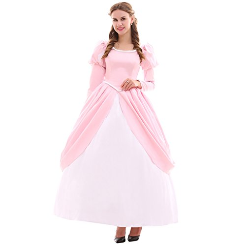 CosplayDiy Women's Princess Fancy Costume Dress Adult Girls Pink