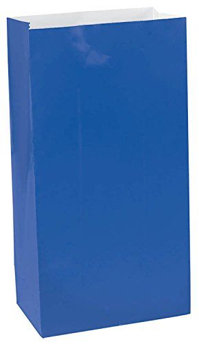 "Amscan Bright Birthday Party Mini Paper Bag, 6-1/2 x 3 x 2"", Royal Blue"