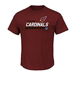 NFL Arizona Cardinals Men's Passing Game Program Short Sleeve Basic Tee, Large, Bright Garnet