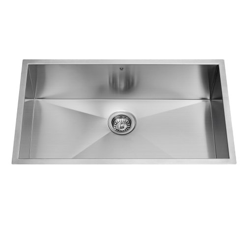 Find Bargain VIGO VG3219C 32-Inch 16 Gauge  Undermount Single Bowl Kitchen Sink, Stainless Steel