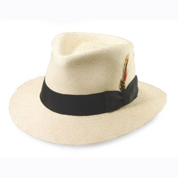 C crown panama hat in natural