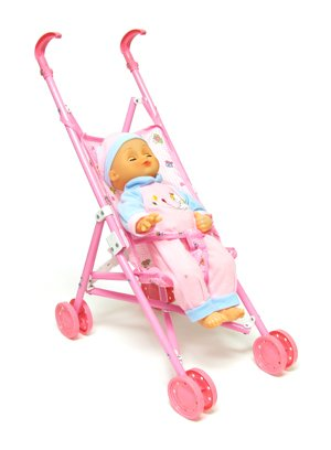 My Lovely Baby Doll With Fold Up Stroller