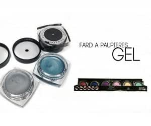 1 POT DE FARD A PAUPIERE EN GEL 6 COULEURS 4G BEAUTE MAQUILLAGE