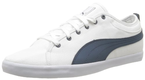 Puma Unisex - Adult Elsu Bluchertoe Canvas Low White Weià (white-dark denim 01) Size: 38