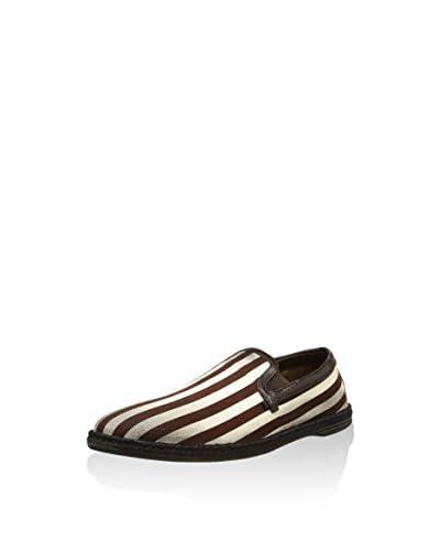 Dolce & Gabbana Slipper [Marrone/Bianco]
