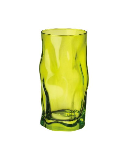 Bormioli Rocco Sorgente Cooler Glasses, Lime Green, Set of 6