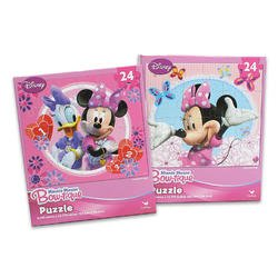 24 Piece Minnie Mouse Puzzle (Assorted) - Childrens Beginner Puzzle - 1