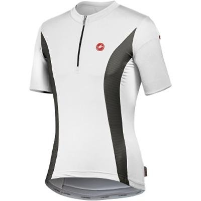 Buy Low Price Castelli 2009 Men's Team Split Short Sleeve Cycling Jersey – white/anthracite/red – A8001-109 (B0029MHQ6I)