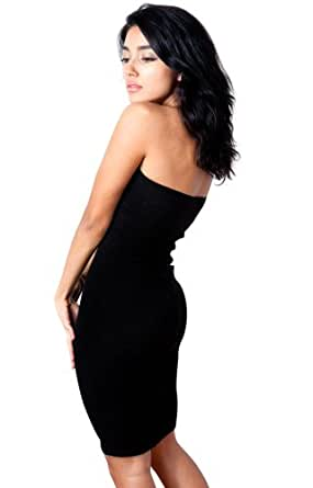 Black Cyclodelic Metallic Small Knee High Body Con Sexy Elegant Tube Top Sweater Dress High Quality Fall Fashion #Activewear #BackToSchool Dancewear #MadeInUSA