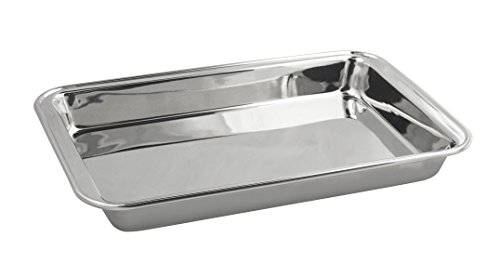 Fox Run Stainless Steel Bake Pan, 12.375 x 8 x 1.25-Inch (Stainless Cake Pan compare prices)