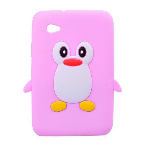 K9Q Schutzschale für Samsung Galaxy Tab 2 7.0 P3100 P3110 P3113 (Design 'Cartoon-Pinguin'), Pink