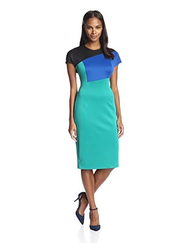 Alexia Admor Women's Color Block Scuba Midi Dress
