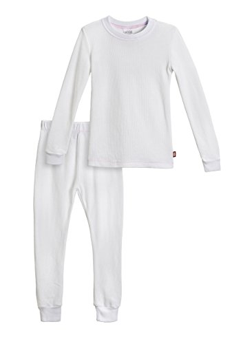 City Threads Little Girls Thermal Underwear Set Perfect for Sensitive Skin SPD Sensory Friendly, White- 3T (Thermal Girls compare prices)