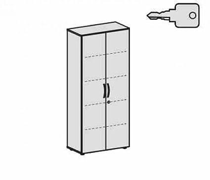 Ali porta armadio con piedini, con porta sordina, chiudibile a chiave, 800x 420x 1808, luce grigio/grigio