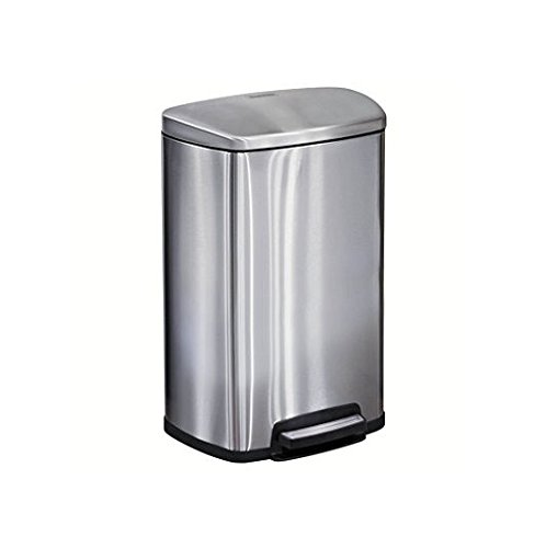 Tramontina Step on Waste Can, Stainless Steel Trash Can Step Can 13 Gallon Large Capacity (1 Trash Can) (Stainless Waste Can compare prices)