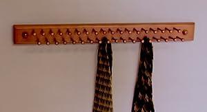 Amazon.com - Tie/Necklace Rack, Mahogany - Tie Racks Wall Mounted