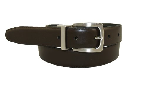 Dockers Big Boys' Reversible Black To Brown Belt With Brushed Nickel Finish Buckle,Brn/Blk,MD (waist 26