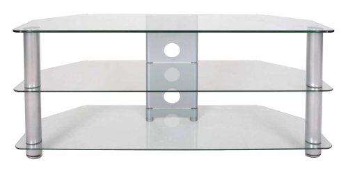 Buying Guide of  Tru-Vue Large Clear Glass Corner TV Stand for up to 60 inch TVs