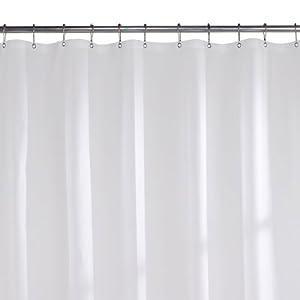 4 Gauge Peva Shower Curtain Liner White
