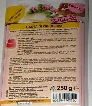 Pasta de azúcar glas - Amarillo - 250 g - 5220