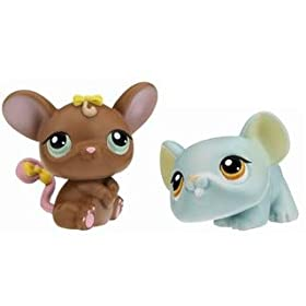 Littlest Pet Shop Assortment 'B' Series 3 Collectible Figure Mouse and Rat
