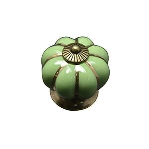 Pumpkins Knobs Handles Ceramic Door Handles Cabinets Cupboard Drawer by MECO CO.,LTD