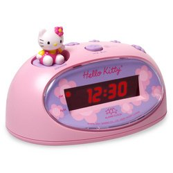 Hello Kitty: Digital Alarm Clock and Mini FM Radio