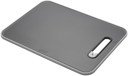 Joseph Joseph Chopping Board with Integrated Knife Sharpener, Large, Slice and Sharpen, Black