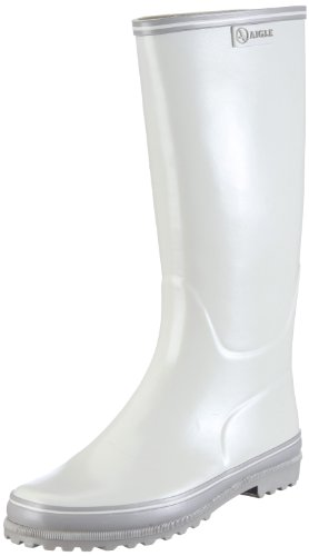 Aigle Women's Venise Wellingtons Boots Blanc (Craie) 5 UK
